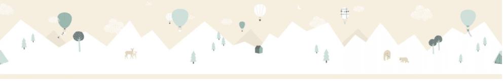 7501-2 Border Montgolfieres Beige